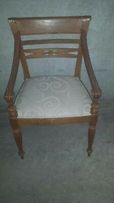 Fabulous Vintage Pair of Hand-carved Timber Chairs