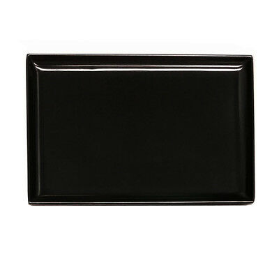 12x Melamine Platter Black 350x240mm Ryner Plastic Serving Catering Tray