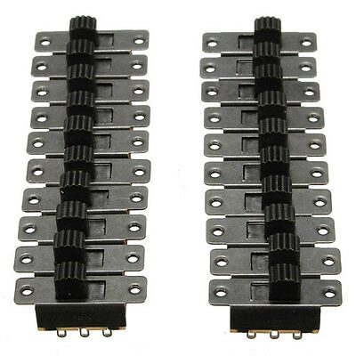 20pcs Black Compact Slide Switch On Off 5V 0.3A DIY Projects 2.5MM Portable