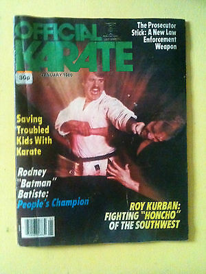 * Rare Collectors * Official Karate Magazine - Jan 1980 - Good Condition