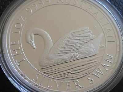 Perth Mint Proof Silver Swan 2017 Mintage of 2500 .999 fine