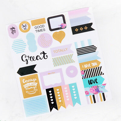 1x Lovely Notebook Planner Album Diary DIY Decor Diary Stationery Stickers Gifts