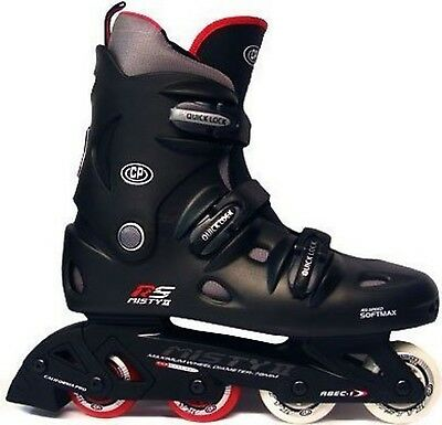 California Pro Misty II Kids & Adults Inline Roller Skates Black 6 UK