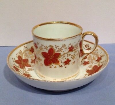 Antique Derby Small Cup and Bowl Saucer Circa 1780's Georgian