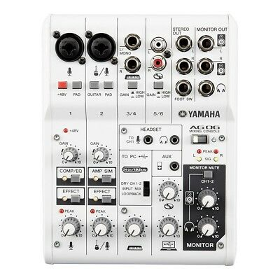 YAMAHA 6Channel Web Casting Mixer 2Channel USB Audio Interface AG06