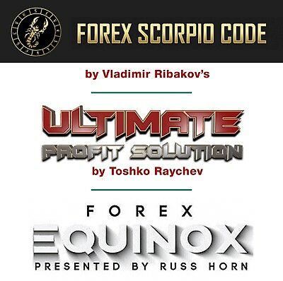 Pack FOREX 3 Systems  -  FOREX SCORPIO CODE + ULTIMATE PROFIT  +  FOREX EQUINOX
