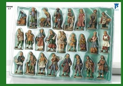 Set 25 personaggi Presepe 7 cm in resina by Paben