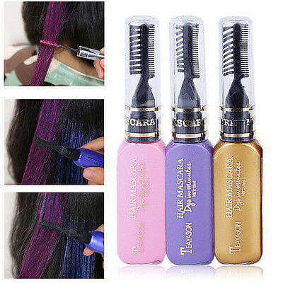 New Wash-Out Temporary Hair Dye Mascara Hair Chalk Non-toxic Hair Dye Salon DIY