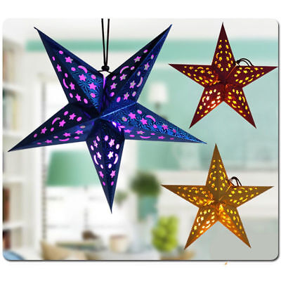 Home Decor Paper Star Lamp Christmas Hanging Festive Indian Decoration Light