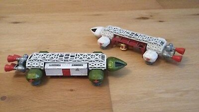 vintage Dinky toys, Space 1999, Eagle Transporter and Freighter