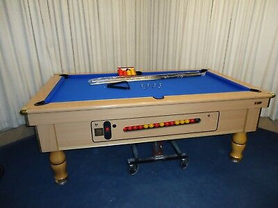 """""""beech"""" 7 X 4 Slate Bed Pool Table,top Of The Range """"no Reserve"""" L@@k"""