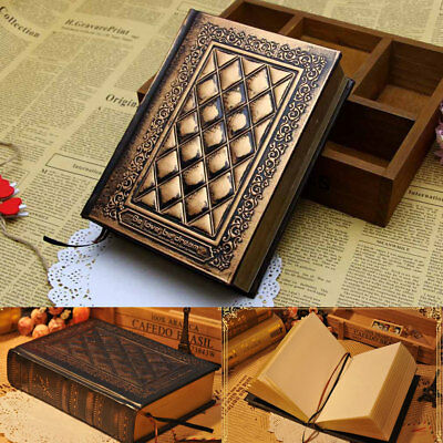Retro Vintage Leather Journal Diary Notebook Blank Hard Cover Sketchbook Paper