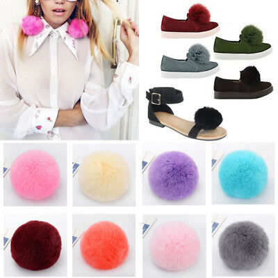 Hot 8CM Faux Rabbit Fur Pom Ball for Beanie Hat Keyring Accessories