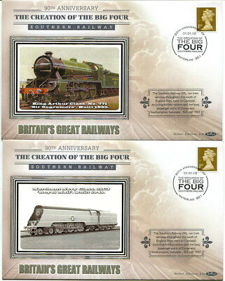 2013 90th anniversary Creation of Big Four Benham set 4 covers Southern Railway