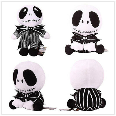 The Nightmare Before Christmas Jack Skellington Soft Plush Doll Toy Figure Xmas