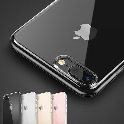 New Hybrid Skin Transparent Case TPU Gel Cover For Apple iPhone 8 7 5s 6s SE rz
