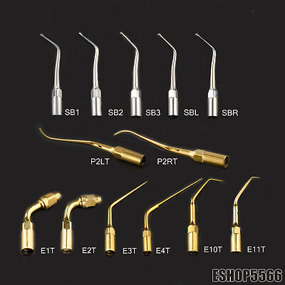 Dental 13 Types Ultrasonic Scaler Cavity Tips Fit EMS/WOODPECKER Handpiece