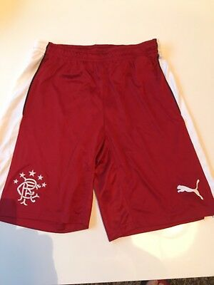 Men's Rangers Red Puma Shorts Size Small