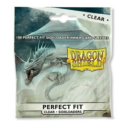 DRAGON SHIELD Perfect Fit Inner Card Sleeves - Clear, NEW, for MtG, Pokemon, L5R