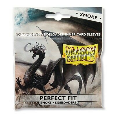 DRAGON SHIELD Perfect Fit Inner Card Sleeves - Smoke, NEW, for MtG, Pokemon, L5R