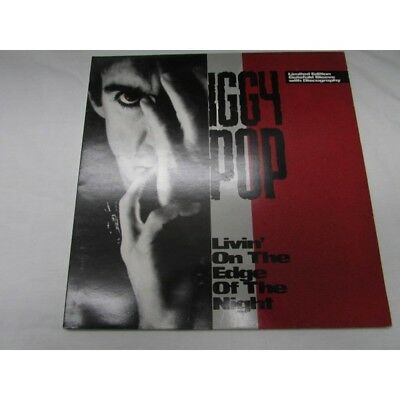 "Iggy Pop Livin' On The Edge Limited Edition 12"" Vinyl Inc David Bowie Tracks"
