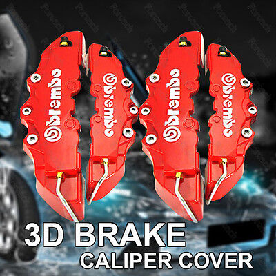 Universal 3D Brembo Style Car Universal Disc Brake Caliper Covers Front & Rear