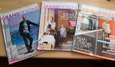 Joblot Grand designs magazines x 3 Issues 2,3,4 April, May, June 2004