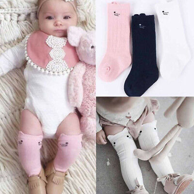 3PCS Funny Cartoon Baby Kids Newborn Toddler Knee High Socks Outfits NEW
