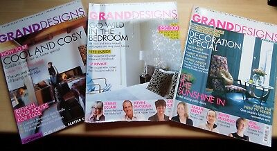 Joblot Grand designs magazines x 3 Issues 12, 13, 15  February, March, May 2005