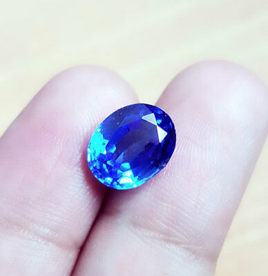Excellent Natural Blue Sapphire 4.57 Ct Oval Shape Certified Gemstone eBay