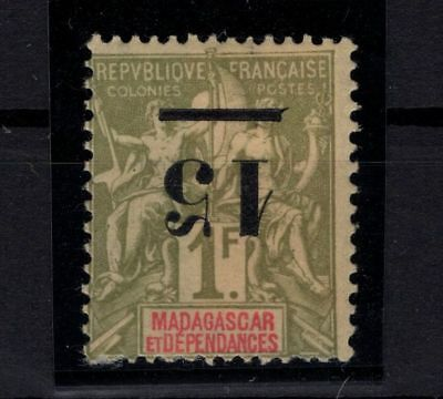 P42571/ Madagascar – Maury # 50 Surch Renversee / Inverted Overprint 165 €