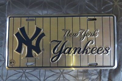 New York Yankees Mlb Baseball Metal License Plate Genuine Merchandise