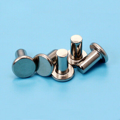 M8 stainless steel rivets flat head solid percussion rivet 12mm-50mm length