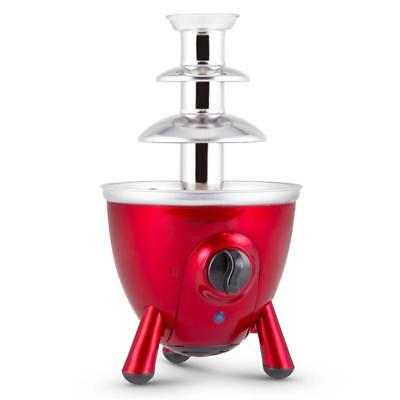 Chocolate Fondue Fountain Wedding Party Birthday Events Dessert Making New - Red