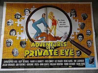 Adventures Of A Private Eye 1977 Uk Quad Cinema Poster Christopher Neil