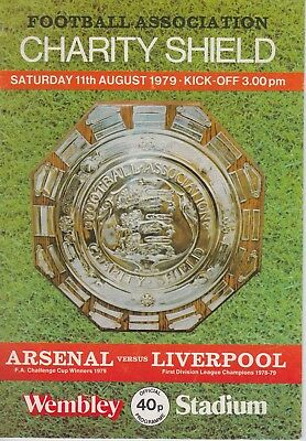 ARSENAL v LIVERPOOL CHARITY SHIELD ~ 11 AUGUST 1979