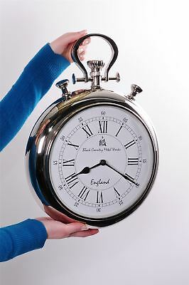 """Black Country Metal Works """"Grandfather Pocket Watch"""" Wall Clock"""