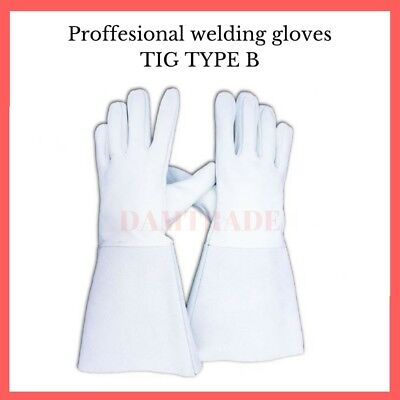 Welding Gloves Tig Welding. Heat Resistant,Leather Protective Gauntlets.UK stock