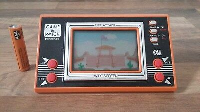 vintage game and watch Nintendo FIRE ATTACK 1982