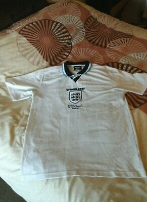Official Umbro Vintage England Pro Training Shirt-Size Large-Very Good Cond.