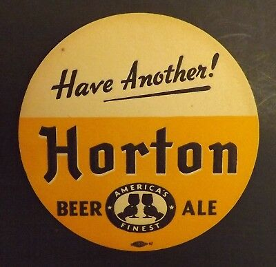 Vintage Horton Beer Coaster  - New York, NY - No Reserve!