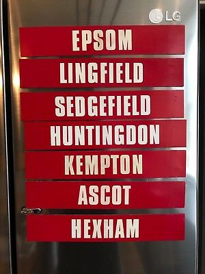Rare Bookmakers Magnetic Horse Racing Signs