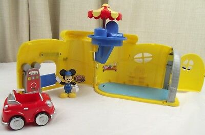 Mickey Mouse Clubhouse  Mickey's Garage Yellow Shoe + Figure & Car RARE!!Vintage
