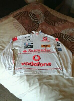 VINTAGE McLAREN MERCEDES BENZ BASE LAYER/LONG SLEEVED TOP-VERY GOOD CONDITION.