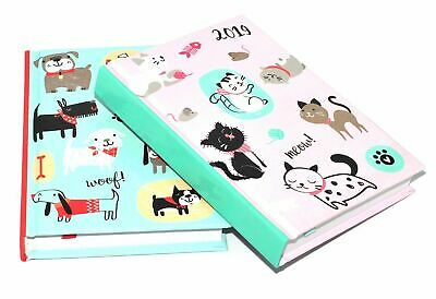 2018 A6 Day to Page Leather Organiser Appointment Office Desk Diary Hearts
