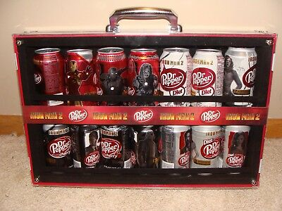 Dr Pepper Ironman 2 Can Display Case