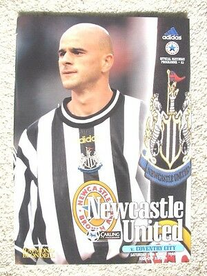 NEWCASTLE UNITED v COVENTRY CITY 1997-98 PREMIERSHIP MATCH PROGRAMME