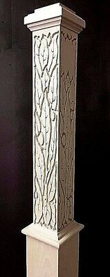 """Carved Box Newel Post 6"""" """"decorative #2  Maple ; 10% Off For Large Orders"""