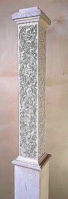 """Carved Box Newel Post 6"""" """"decorative #1"""" Red Oak; 10% Off For Large Orders"""