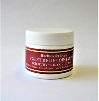 Biteback Dog SWEET RELIEF™ Cream, Soothes Itchy Dog Skin, Flea Repellent 50g